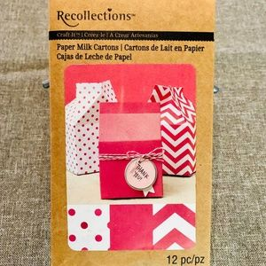 🌷$9 NEW Recollections Paper Milk Cartons